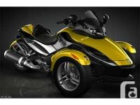 2008 Can-Am Spyder GS SM5, comes complete with high