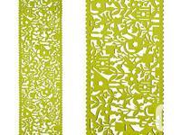 """13"""" X 47"""" Polyester Green Garden Icon Table Long"""