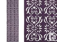 "47"" X 13"" Polyester Felt Purple Scroll Cutout Table"