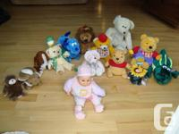 13 Assorted Plush Toys, Doll with Some Animated with