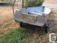 13 foot boat comes with trailer, electric motor, 2