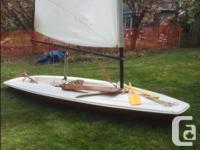 13 foot shark sailboat foam cored, plastic covering,