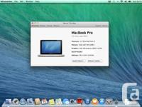 "13"" Macbook Pro for sale. Here are the specs:  2.4GHz"