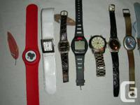 13 women and guys watches, one is females self winding