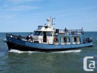 """1967/1989 60' x 19'6"""" x 4.5' Steel CharterBoat/ Trawler"""