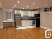 Completely renovated luxury basement apartment in