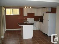 Bright and spaceous basement home one block from the