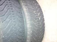 4 winter tires on rims, 5 bolt pattern 195/ 65/ 14