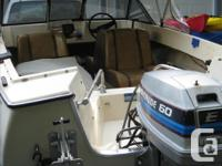 """14"""" K&C Thermoglass. Canvas top and cover. 80's 60hp"""