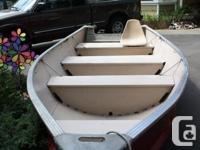 14' Nadan aluminum boat. Good condition with no dents.