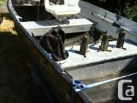 14' aluminum boat, in decent condition, comes with
