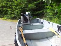 Great boat for lake or ocean. 20 HP Evinrude motor,