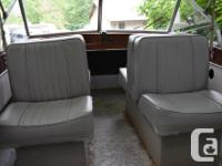 14' KC Thermosglass boat has perfect seats, canvass and