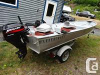 2001 14' Harbercraft Aluminum boat. 2002 15hp Mercury