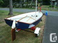 Stitch and glue Jack Holt Puffin Pacer sailing dinghy.