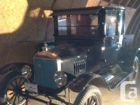 For sale 1925 Ford Model T coupe. It is black in color,