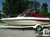 Great bow rider ready to go. Plenty of comfort and