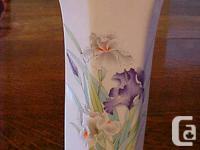 "Japan ""Iris Bouquet"" Fluted 11� Vase Please view all"