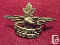 An Original Pre WW II Canadian Cap Badge To The Air
