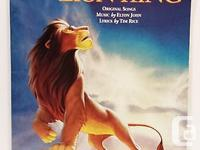The LION KING Piano Book is in excellent condition -