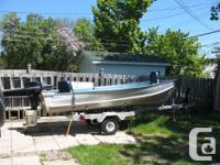 14' aluminum boat with 1980 Mercury 9.8 electric start