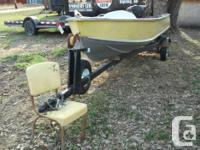 This item is a 14' aluminum boat, brand name Sterling,