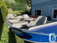 14' Duroboat with 15hp 2 stroke Mariner pull start