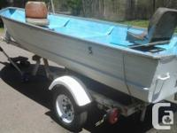 Nice older alum 14' boat with a nice ShoreLand'r