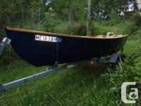 This is 1977 14 ft. Amesbury Dory boat. It has been