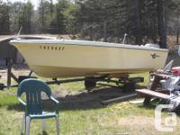 !4 foot Crestliner fiberglass boat and trailer for