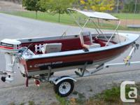 welded Crestliner angling watercraft, with securing