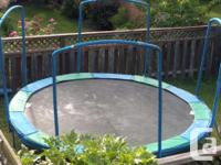 14 foot trampoline worth over $1000 when bought. Has