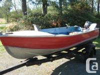 14 ft. alum Springbok boat 18 hp Tohatsu outboard motor