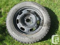 4 snow tires on rims. 185 65 R14. Used 1 season. In