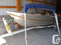 Hewescraft 14' aluminum boat with ezload Sprint