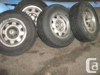 I HAVE 4 TIRES THAT ARE ON RIMS OFF AEROSTAR VAN ALL SO