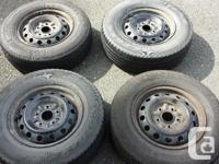 These are from a 1997 Toyota Camry. Two tires are