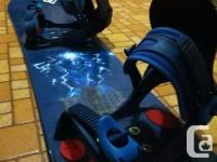 I have a used 144cm SIMS snowboard with Salomon