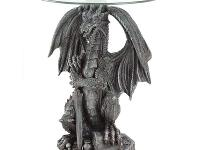 GUARDING DRAGON ACCENT TABLE only Stunning stone-look