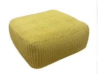 Handmade Knitted Floor Cushion Color: Custard (Pantone