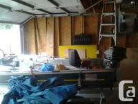 14ft aluminium boat motor and trailer. This is a