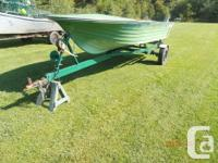 For sale 14ft fiberglass boat & trailer excellent boat