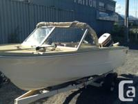 14 ft dual eagle deep V with trailer and 70hp outboard