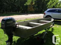 2003 15hp Yamaha 4stroke outboard motor Hummingbird for sale  Saskatchewan