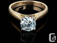 14 Karat Yellow Gold, round diamond involvement Ring