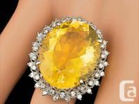 14K WHITE GOLD 21CTW !!! FIRE OPAL 0.95 CTW DIAMOND