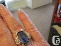 14kt yellow gold Customizeded Tanzanite and also