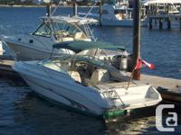 Clean SEA RAY 240 overnighter with only 284 hours on