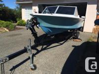 15' Glasscraft boat. Includes a 1986 40 HP Long Yamaha