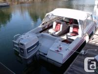 70 hp Evinrude in excellent condition. Hull is good.